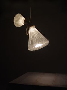 Origami-inspired works by Tian Zhen, made of Tyvek paper