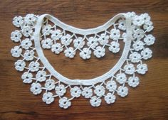 Crochet Collar Necklace - Floral, Handmade, Detachable - Women's Fashion and Accessories