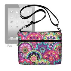 Cute Paisley  iPad Air Case with Shoulder Strap  iPad Purse iPad Bag Sleeve Cover  Ipad 4 3 2 1 Pink Turquoise Purple  (MTO) on Etsy, $49.99