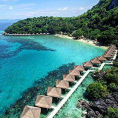 Apulit island resort, north Palawan Philippines @theluxenomad #LuxuryResorts