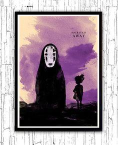 Viaje de Chihiro Hayao Miyazaki película minimalista cartel