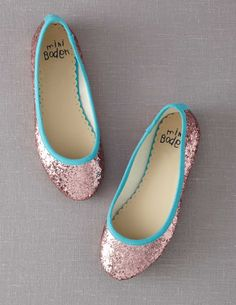 Glitter mini ballerinas from Mini Boden!