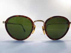 49070b922f95 Vintage Giorgio Armani 80 s Preppy Tortoise Gold Aviator Sunglass Frames    GiorgioArmani  Armani Glasses