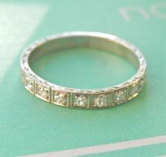 Fabulous Art Deco Platinum 0.50 cttw. Diamond Ring