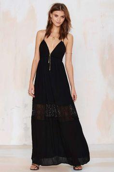 Beautiful black lace maxi dress.