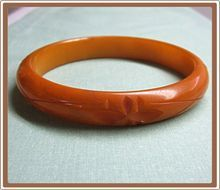 Bakelite Bangle Bracelet Carved Marble Yellow like moms...this was on Ruby Lane