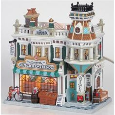 Lemax decorative villages are a holiday tradition made with old-world craftsmanship, combined with new-age technology. Christmas Village Accessories, Christmas Village Display, Christmas Village Houses, Christmas Town, Christmas Mantels, Christmas Villages, Pink Christmas, All Things Christmas, Putz Houses