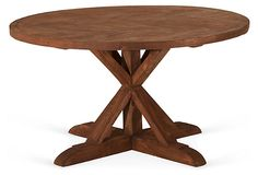 The leg reminds me of my concole table. Hence, perfect addition for breakfast room. Circle Dining Table on OneKingsLane.com
