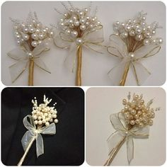 Determining Who Wears Flowers At Wedding For The Best Planning – Bridezilla Flowers Diy Wedding Flowers, Diy Flowers, Flower Decorations, Wedding Favors, Wedding Gifts, Wedding Decorations, Flower Crafts, Pearl Bouquet, Diy Bouquet