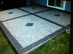 Epoxy Pebble Patio. Might Do This For Our New Patio!