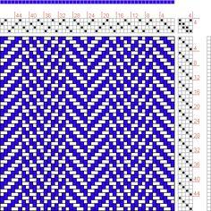 Hand Weaving Draft: 24130.1, 2500 Armature - Intreccio Per Tessuti Di Lana, Cotone, Rayon, Seta - Eugenio Poma, 4S, 4T - Handweaving.net Hand Weaving and Draft Archive