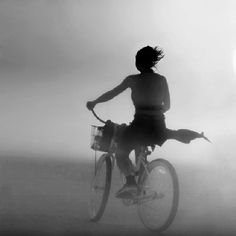 ☽ Dream Within a Dream ☾ Misty Blurred Art and Fashion Photography - biker