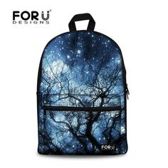 Multicolor Canvas Backpack Stylish Galaxy Star Universe Space Backpack