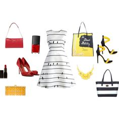 Accessorize with color! by thebagtique on Polyvore featuring Chicwish, CHARLES & KEITH, Illamasqua and NARS Cosmetics