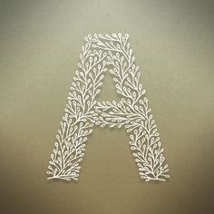 Botanical Alphabet on Typography Served Cute Letters, Monogram Letters, Letters And Numbers, Creative Typography, Typography Letters, Lettering, Flower Typography, Typography Served, Quilling Letters