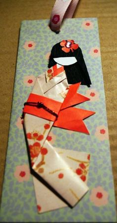#washi #chiyogami #doll #momiji #mrwashisancreation http://mrwashisan.blogspot.com