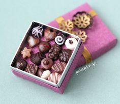 Miniature Food - Purple Chocolate Box by PetitPlat - Stephanie Kilgast, via Flickr