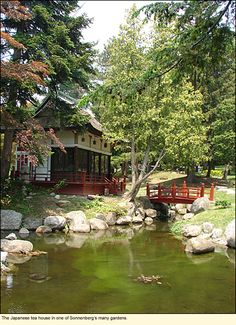 The Japanese tea house in one of Sonnenberg's many gardens. Sonnenberg Gardens & Mansion in the Finger Lakes #FingerLakes is a favorite venue for weddings.