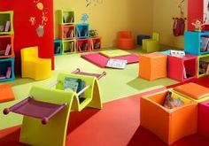 Mobilier coloré pour la Petite Enfance, Mobilier scolaire et de formation | Lorémab