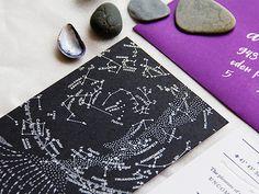 Oh So Beautiful Paper: Emma + Brian's Star Map Wedding Invitations