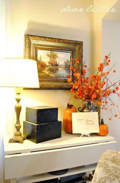 fall entry decor