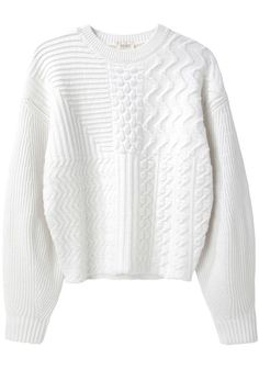 Shop for Cable Knit Sweater by Kenzo at ShopStyle. Long White Shirt, Cropped White Shirt, Crop Shirt, Cropped Sweater, White Jumper, White Shirts, White Sweaters, Long Sweaters, Crewneck Sweaters