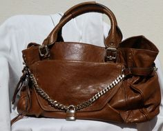 Chloe large paddington capsule bag brown leather gold like chain padlock