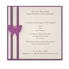Classic butterfly invite