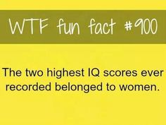 Two highest IQ scores