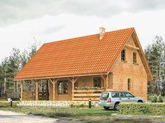 Jaśmin dr-S to stosunkowo duży dom z użytkowym poddaszem, który został wzbogacony o duży zadaszony taras na parterze. Pełna prezentacja projektu znajduje się na stronie: http://www.domywstylu.pl/projekt-domu-jasmin_dr-s.php.  #jaśmin #domywstylu #mtmstyl #domyrekreacyjne, #projektygotowe,