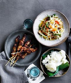 A street food favourite, these grilled pork skewers by chef David Thompson pack a huge amount of flavour. Make them the star of your next barbecue.