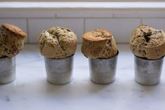 Seeded Popovers --all purpose flour, 5 eggs, raw milled, sesame Popover Recipe, Opening A Bakery, Millet Recipes, Healthy School Snacks, Decadent Food, Good Food, Yummy Food, Baking Recipes, Breakfast Recipes