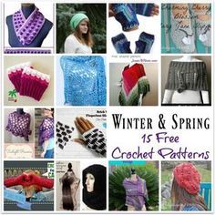 Roundup: 15 free crochet patterns for spring and winter, curated by Crochet Pattern Bonanza for StitchesNScraps | This round-up of winter and spring crochet patterns is compiled by Rhelena of Crochet Pattern Bonanza – a free crochet pattern directory.