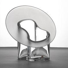 "TIMO SARPANEVA - Glass vase ""Marcel"" for Iittala, Finland. [h. 21 cm] Glass Design, Design Art, Alvar Aalto, Marcel, Finland, Glass Vase, Fat, Mirror, Furniture"