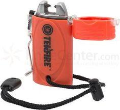 UST Ultimate Survival TekFire Fuel-Free Rechargeable USB Lighter, Orange