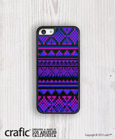 Blue + Pink AZTEC Pattern iPhone 5C Case #PhoneCases