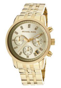 Michael Kors MK5676 Golden Ritz Chronograph Women's Gold Toned Steel Watch New #gold #toned #steel #watch #womens #chronograph #kors #golden #ritz #michael