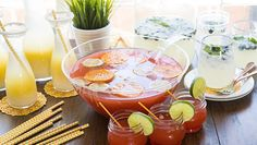 3 Summer Punches  If you've got summer heat, you need a fantastic punch to quench the thirst.
