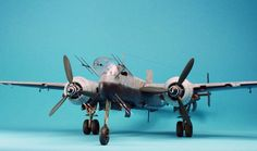 Hi all, here is another of my nightfighters. This time it is the HE-219 from Tamiya. I pened the wing and the fuselage gun bay and added machineguns from CM...