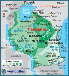 Mount Kilimanjaro in Tanzania is the highest point in Africa Geography Map, World Geography, History Of Ethiopia, Temple Thailand, Africa Map, Africa Continent, Countries Of The World, African Countries, Flag Art