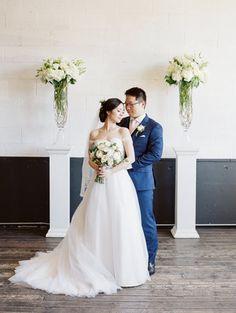 Union/Pine Portland Oregon wedding venue - couple photo - ballgown wedding dress