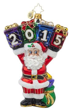 Christopher Radko' A Year to Display - 2015' Santa Ornament available at #Nordstrom
