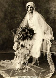 Stunning 1920s Vintage Wedding Photo Bridal Portrait | eBay
