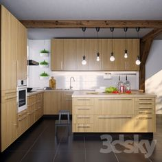 IKEA Kitchen EKESTAD oak (ekestad oak)