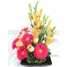 centros-mesa-lilies-naranja