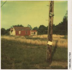 Walker Evans | [Telephone Pole and Red Barn] | The Met