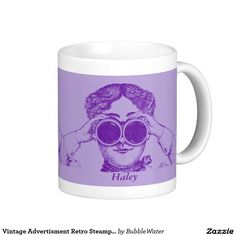 Vintage Advertisment Retro Steampunk Binoculars Classic White Coffee Mug