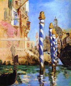 This is labeled Édouard Manet, The Grand Canal, Venice--- but I suspect it's by Claude Monet?