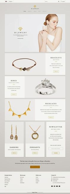 Simple and Clean MT BeJewelry Multipurpose Responsive #Magento Theme 2015 #eCommerce