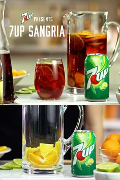 Mix up Sangria, made with today. Best Coffee Shops in Chattanooga Tennessee Sangria Recipes, Drinks Alcohol Recipes, Non Alcoholic Drinks, Wine Drinks, Cocktail Drinks, Cocktail Recipes, Punch Recipes, Drink Recipes, 7up Recipe